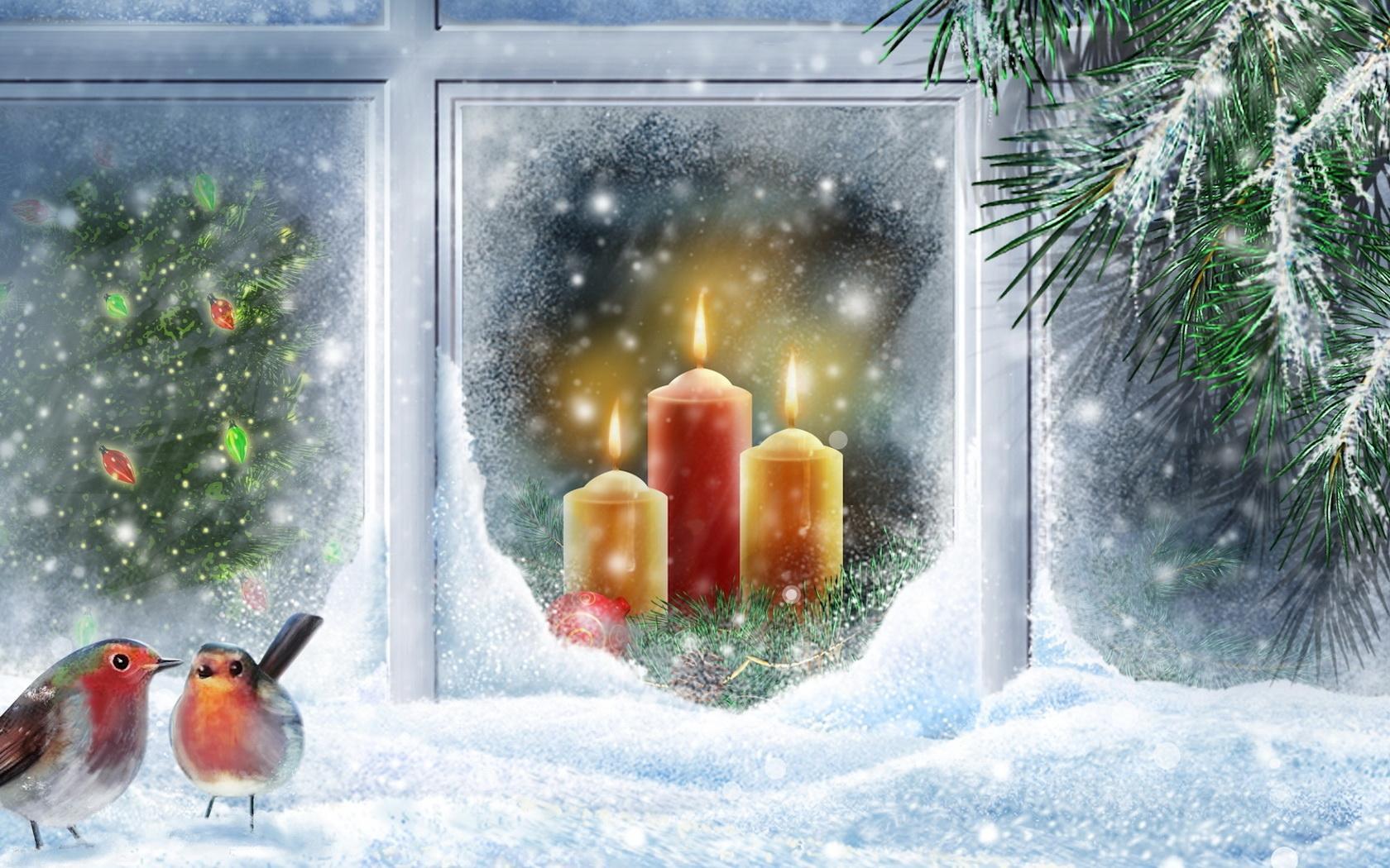 Зимние открытки с рождеством
